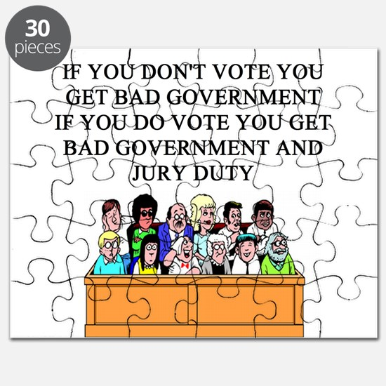 election jury duty gifts apparel Puzzle