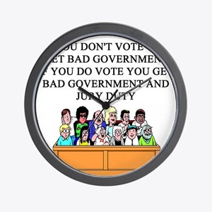 election jury duty gifts apparel Wall Clock