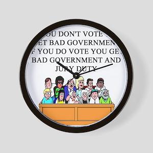 election jury duty gifts apparel Wall Clock