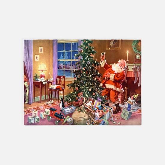 Santa Claus 3_10x14_ADJ 5'x7'Area Rug