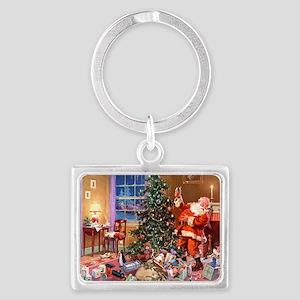 Santa Claus 3_10x14_ADJ Landscape Keychain