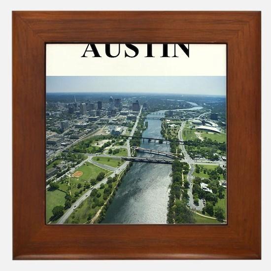 austin texas gifts Framed Tile