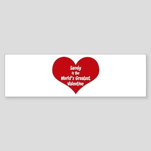 Greatest Valentine: Sandy Bumper Sticker