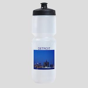 detroit michigan gifts Sports Bottle