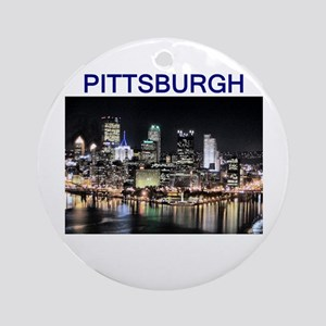 Pittsburgh_test_entire_shirt_1 Round Ornament