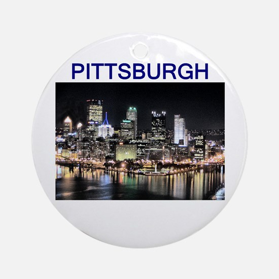 Pittsburgh_test_entire_shirt_1.jpg Round Ornament