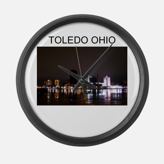 Toledo ohio gifts t-shirts Large Wall Clock