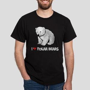 I Love Polar Bears Dark T-Shirt