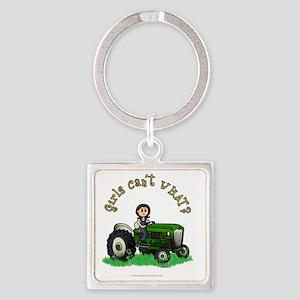farmer-green-light Square Keychain