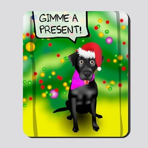 Black Lab Holiday Card Mousepad