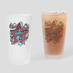 Worlds Most Awesome yia yia Drinking Glass