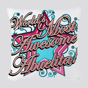 Worlds Most Awesome Abuelita Woven Throw Pillow