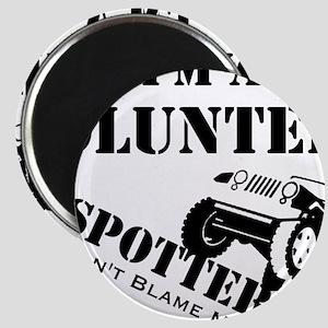 Volunteer Spotter BLACK Magnet