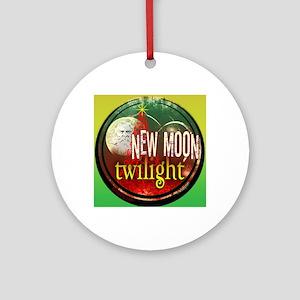 twilight santa iphone copy Round Ornament