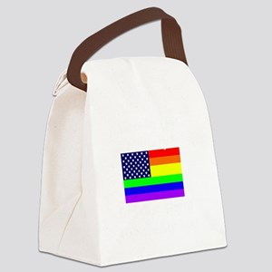 Military Gays 2 trans Canvas Lunch Bag
