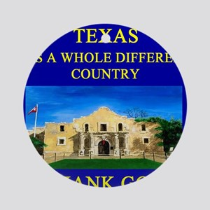 texas pride alamo gifts t-shirts Ornament (Round)