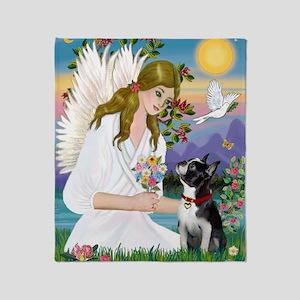 Angel Love - Boston T3 (FPrint) Throw Blanket