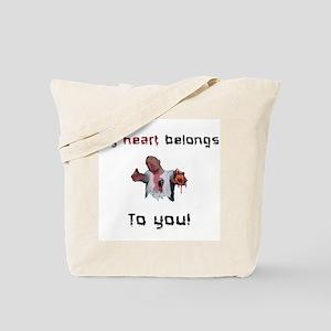 Heart belongs to you zombie Tote Bag