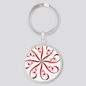 eshgh-4misc35-rotating-rd-ipod4-t Round Keychain