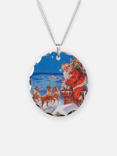 Santa Claus 60_SQ Necklace Circle Charm