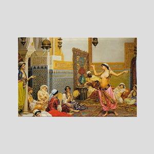 The-Harem-Dance_Giulio-Rosa Rectangle Magnet