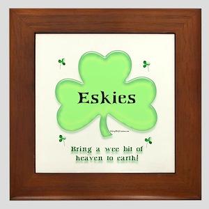 Eskie Heaven Framed Tile