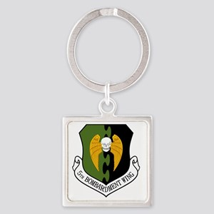 5th Bomb Wing - Black Square Keychain