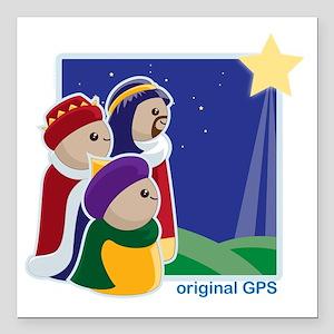 """original-gps Square Car Magnet 3"""" x 3"""""""
