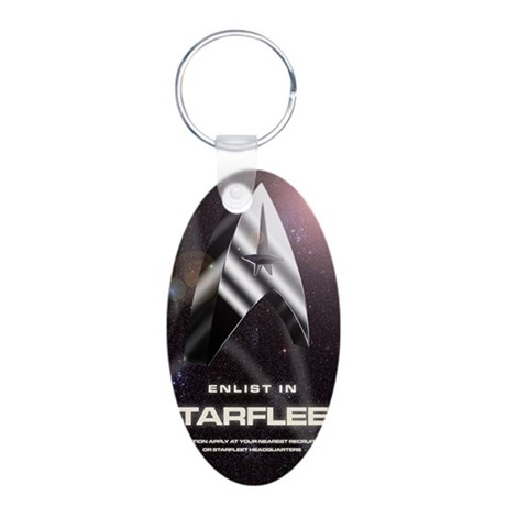 enlist-3-large-poster copy Aluminum Oval Keychain