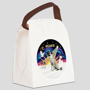Xmas Sunrise - Anatolian Shepherd Canvas Lunch Bag