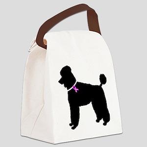 Poodle Canvas Lunch Bag