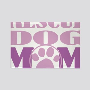 Rescue-Dog-Mom Rectangle Magnet