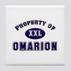 Property of omarion Tile Coaster