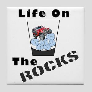 On The Rocks Whiskey Tile Coaster