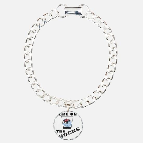 On The Rocks Whiskey Charm Bracelet, One Charm