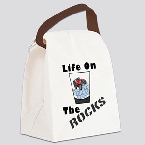 On The Rocks Whiskey Canvas Lunch Bag