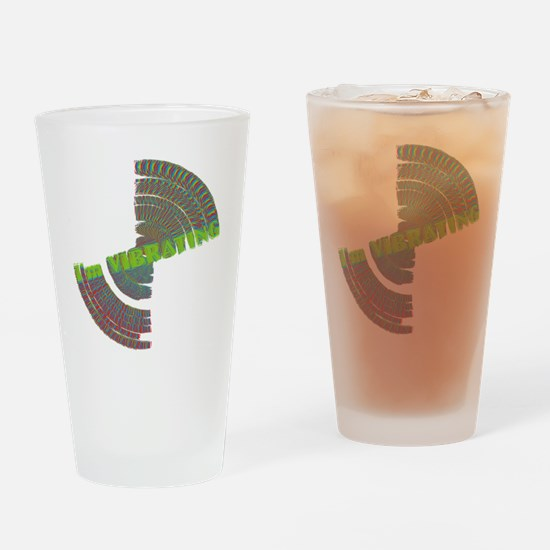 vibrating dark Drinking Glass