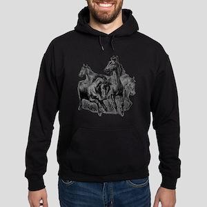 4 Horse Illustration Hoodie (dark)
