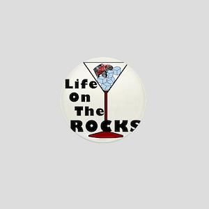 On Rocks Martini BLACK Mini Button