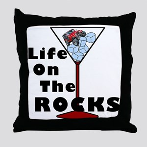 On Rocks Martini BLACK Throw Pillow