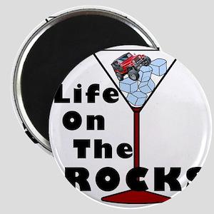 On Rocks Martini BLACK Magnet