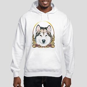 Alaskan Malamute Holiday/Xmas Hooded Sweatshirt