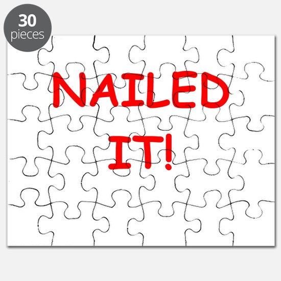 NAILED it geek gifts t-shirts Puzzle
