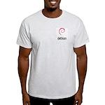 Ash Grey Debian T-shirt