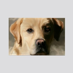 16x20YellowLab Rectangle Magnet