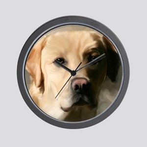 16x20YellowLab Wall Clock