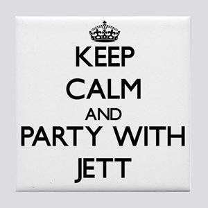Keep Calm and Party with Jett Tile Coaster