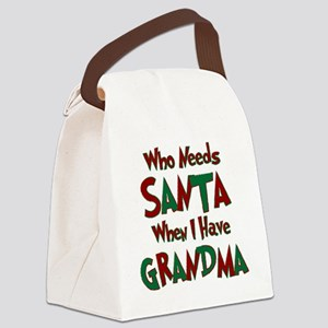Who_needs_santa Canvas Lunch Bag