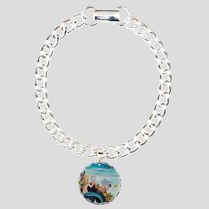 Mermaid dressing room 11 Charm Bracelet, One Charm