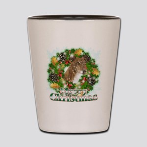 Merry Christmas Greyhound Shot Glass